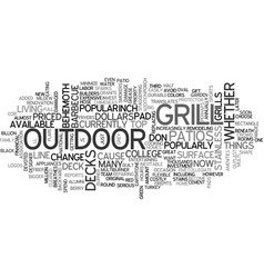 What s under your grill text word cloud concept vector
