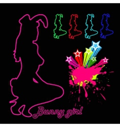 night club bunny girl vector image vector image