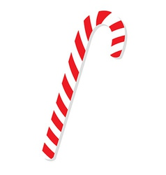 Red christmas candy cane vector image vector image