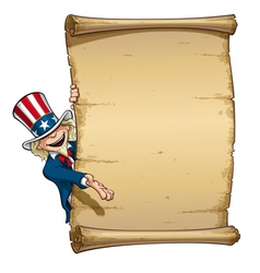 Uncle Sam Showing at Declaration vector image vector image