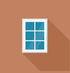 window with white frame vector image vector image