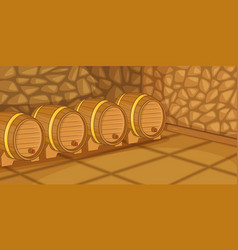 beer cellar horizontal banner cartoon style vector image vector image