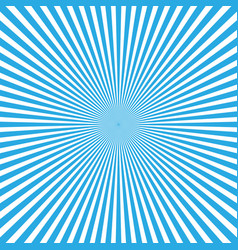 blue-white color burst background of light rays vector image