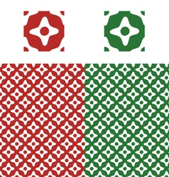 Christmas pattern swatch vector image vector image
