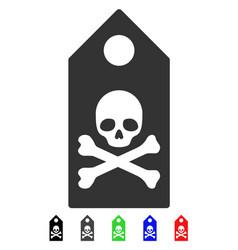 Death mark flat icon vector