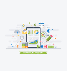 financial management vector image vector image