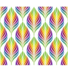 Seamless pattern with colorful leaves EPS vector image vector image