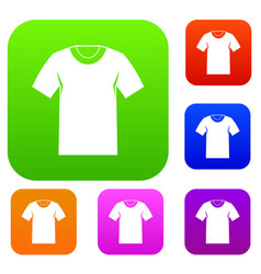 tshirt set collection vector image vector image