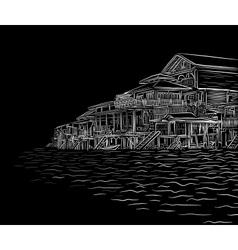 Waterside sketch vector image vector image