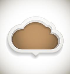 Abstract speech cloud vector image vector image