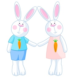 Cute Bunnies vector image vector image