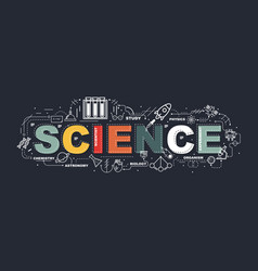design concept of word science website banner vector image vector image
