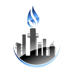 Oil refinery or industrial plant vector image vector image