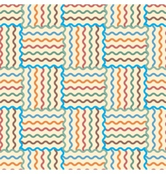 Seamless abstract waves pattern vector image vector image