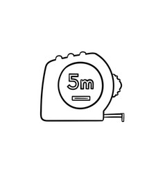 tape measure hand drawn sketch icon vector image