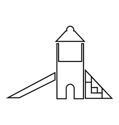 Childrens slide house icon outline style vector image vector image