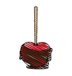 chocolate apple icon image vector image