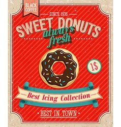 Donuts Poster vector image vector image