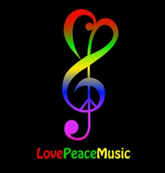 lovepeacemusicthumb vector image vector image