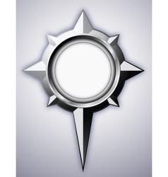 Steel compass rose vector