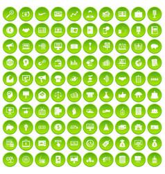 100 e-commerce icons set green circle vector
