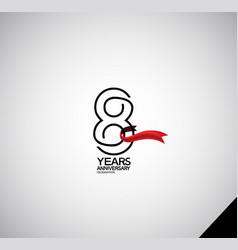 8 years anniversary logotype simple design vector