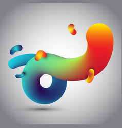 Abstract 3d design of fluid like shape vector
