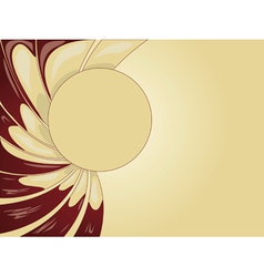 Abstract creamy background vector image