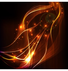 Abstract design-colorful smoke on black background vector image