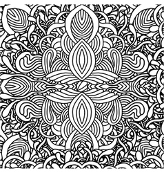 Abstract seamless with hand drawn ornament vector image