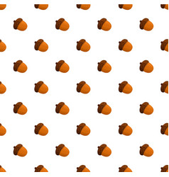 acorn pattern seamless vector image