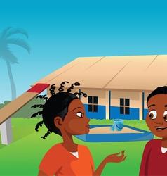 Africa playground vector image