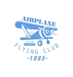 Airplane Club Emblem Design vector image vector image
