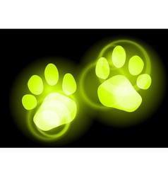 Animal neon light vector