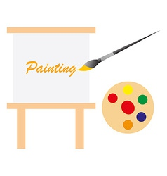 Art board and paint pallet vector