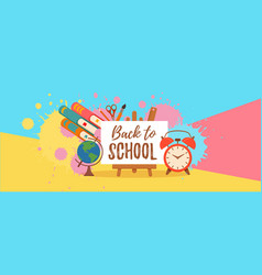 back to school colorful concept vector image