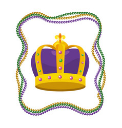 Bejeweled crown with beads vector