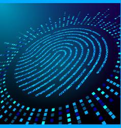 Big data fingerprint visualization processing vector