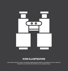 Binoculars find search explore camping icon glyph vector