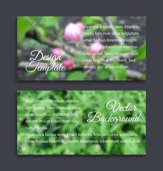 Blurred photos with spring tree and grass vector