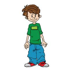Boy standing vector