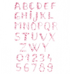 bubbly alphabet vector image