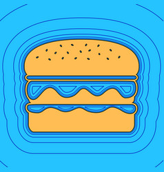 burger simple sign sand color icon with vector image