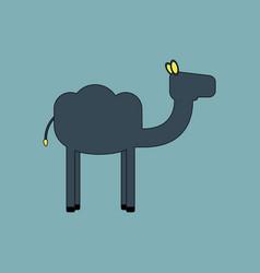 Camel icon silhouette vector