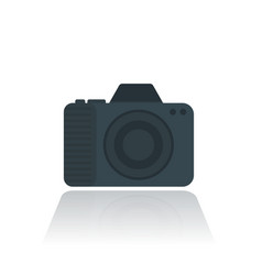 camera icon pictogram in flat style vector image