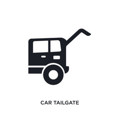 Car tailgate isolated icon simple element from vector