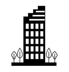city building urban trees nature vector image