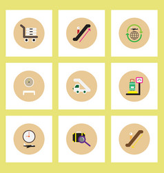 Collection stylish icons in colorful vector