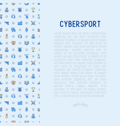 Cybersport concept with thin line icons vector