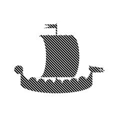 Drakkar sign on white vector image